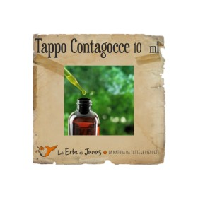 Tappo contagocce a pipetta ghiera in bachelite liscia 10 ml