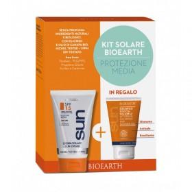 Kit Solare Protezione Media - Crema SPF 15 + Shampoodoccia mini