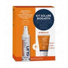 Kit Solare Protezione Bassa Spray - Crema Spray SPF 6 + Shampoodoccia mini
