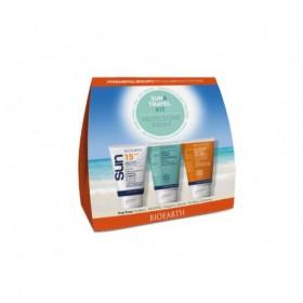 Sun&Travel Kit Protezione Media - Crema SPF 15 + Crema Doposole + Shampoodoccia in FORMATO MINI