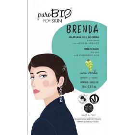 BRENDA Maschera viso in crema per Pelle Secca UVA VERDE - puroBIO FOR SKIN