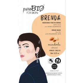 BRENDA Maschera viso in crema per Pelle Secca MANDORLA - puroBIO FOR SKIN