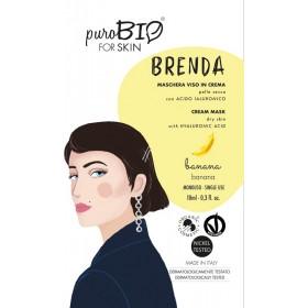 BRENDA Maschera viso in crema per Pelle Secca BANANA - puroBIO FOR SKIN