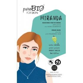 MIRANDA Maschera viso in crema per Pelle Grassa UVA VERDE - puroBIO FOR SKIN