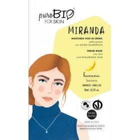 MIRANDA Maschera viso in crema per Pelle Grassa BANANA - puroBIO FOR SKIN