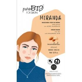 MIRANDA Maschera viso in crema per Pelle Grassa MANDORLA - puroBIO FOR SKIN