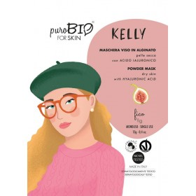 KELLY Maschera viso viso in alginato (peel off) per Pelle Secca FICO - puroBIO FOR SKIN