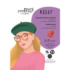 KELLY Maschera viso viso in alginato (peel off) per Pelle Secca FRUTTI ROSSI - puroBIO FOR SKIN