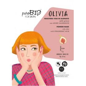 OLIVIA Maschera viso viso in alginato (peel off) per Pelle Grassa FICO - puroBIO FOR SKIN