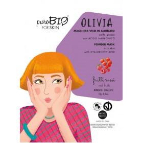 OLIVIA Maschera viso viso in alginato (peel off) per Pelle Grassa FRUTTI ROSSI - puroBIO FOR SKIN