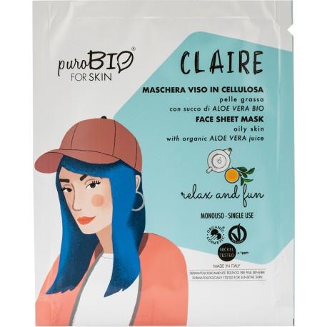 CLAIRE maschera viso - Relax and fun  - puroBIO FOR SKIN