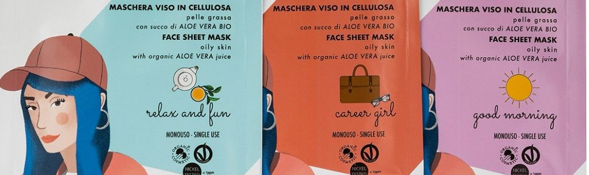Maschere viso in cellulosa puroBIO for Skin